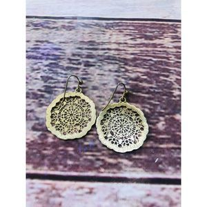 Juicy Couture faux gold earrings